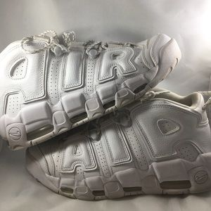 Nike Air More Uptempo Triple White 2016 Size 9
